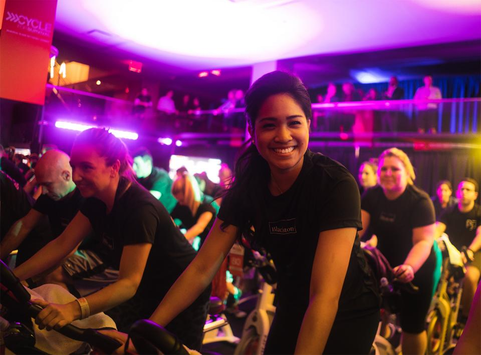 As part of #CycleforSurvival, the national movement to beat rare cancers, 108 Blackstone employees joined together to ride on 18 bikes to fundraise for cancer research at Memorial Sloan Kettering Cancer Center.