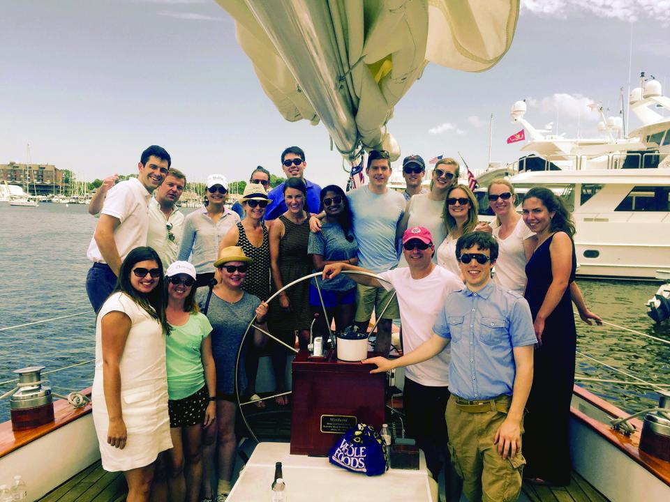 DC office summer sailing adventure
