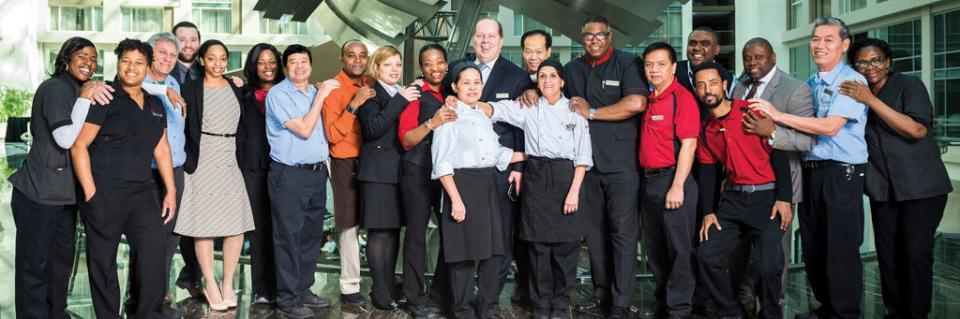 Associates at the Marriott Marquis Washington DC make unity a priority and are honored with the 2016 J.W. Marriott, Jr. Diversity Excellence Award.