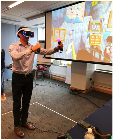 Employees tried out virtual reality in our immersive Digital Play Space during AXA's Development Days in Jersey City, an open learning program focusing on digital and innovation.