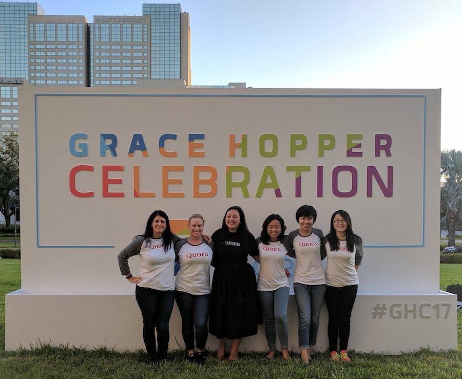 The Quora team at Grace Hopper 2017