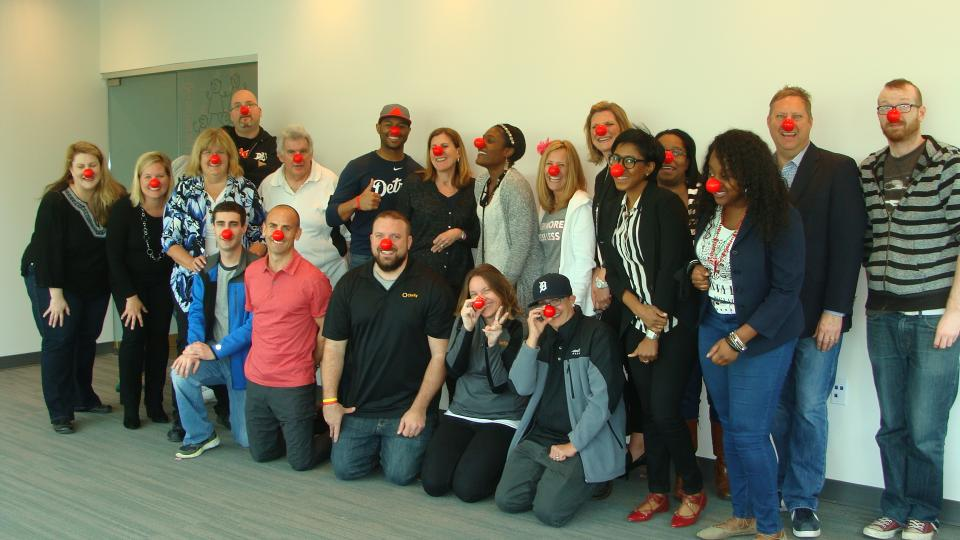 Team committed to Red Nose Day to reduce hunger
