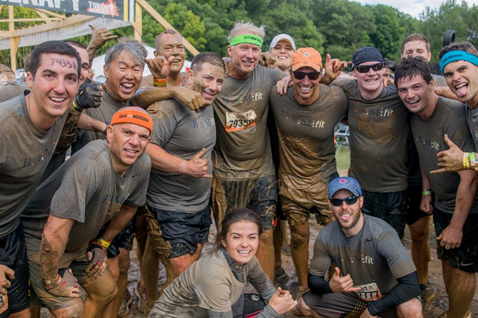 BAM employees at a Tough Mudder race