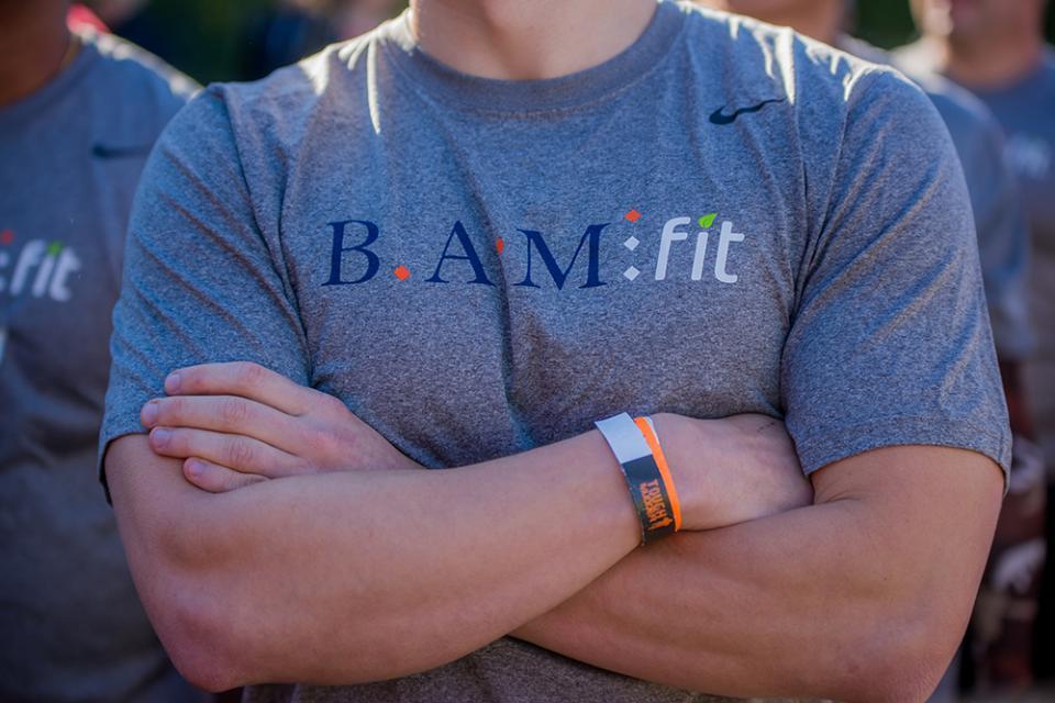 A BAMfit t-shirt