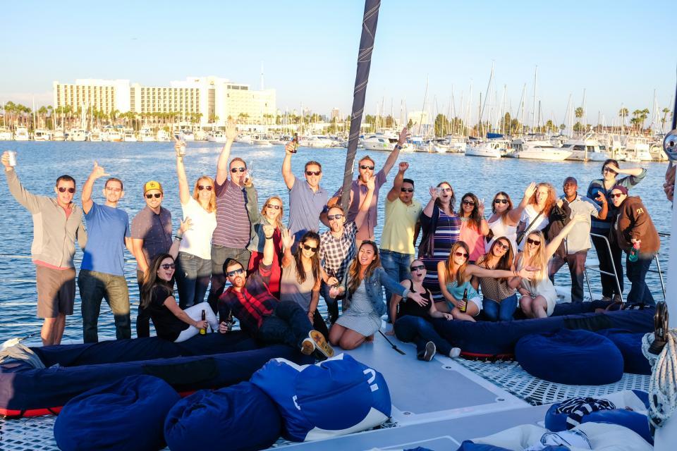 Company boat fun day