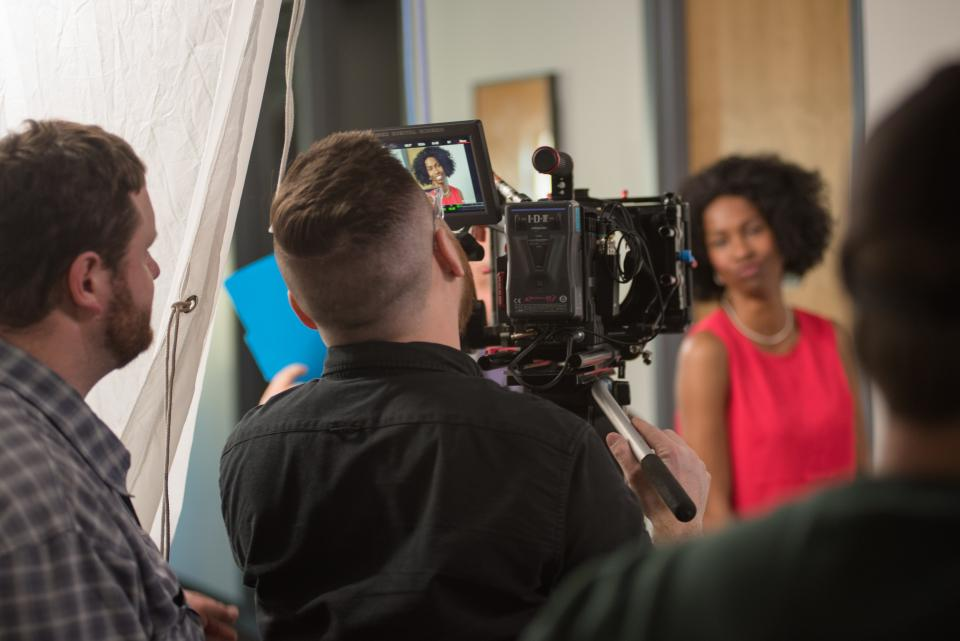 Filming a BambooHR commercial.