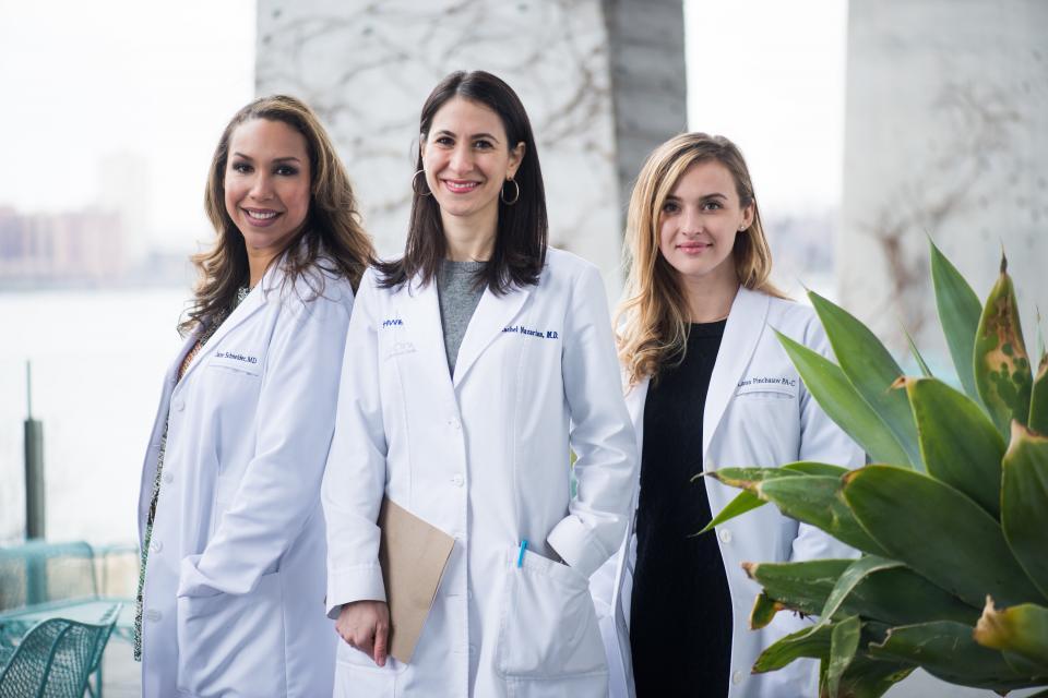 Schweiger Dermatology Group providers: Dr. Mara Weinstein, Dr. Rachel Nazarian and Danielle Daughtridge, PA-C