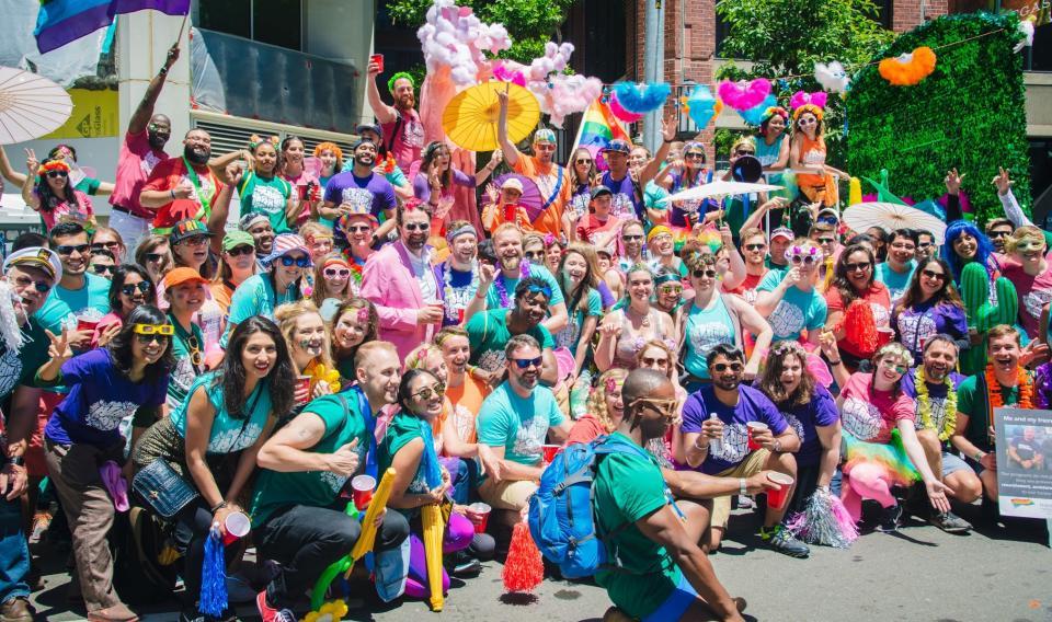 A few Zendeskians celebrating SF Pride 2017