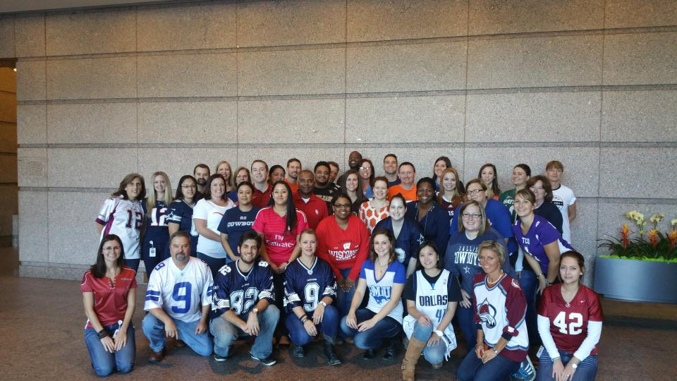 Dallas Employees enjoy team Jersey Day