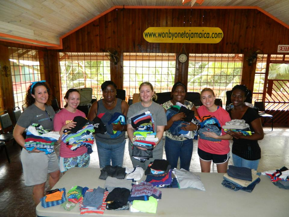 Enhancing lives in Jamaica on one of the company-sponsored service trips.