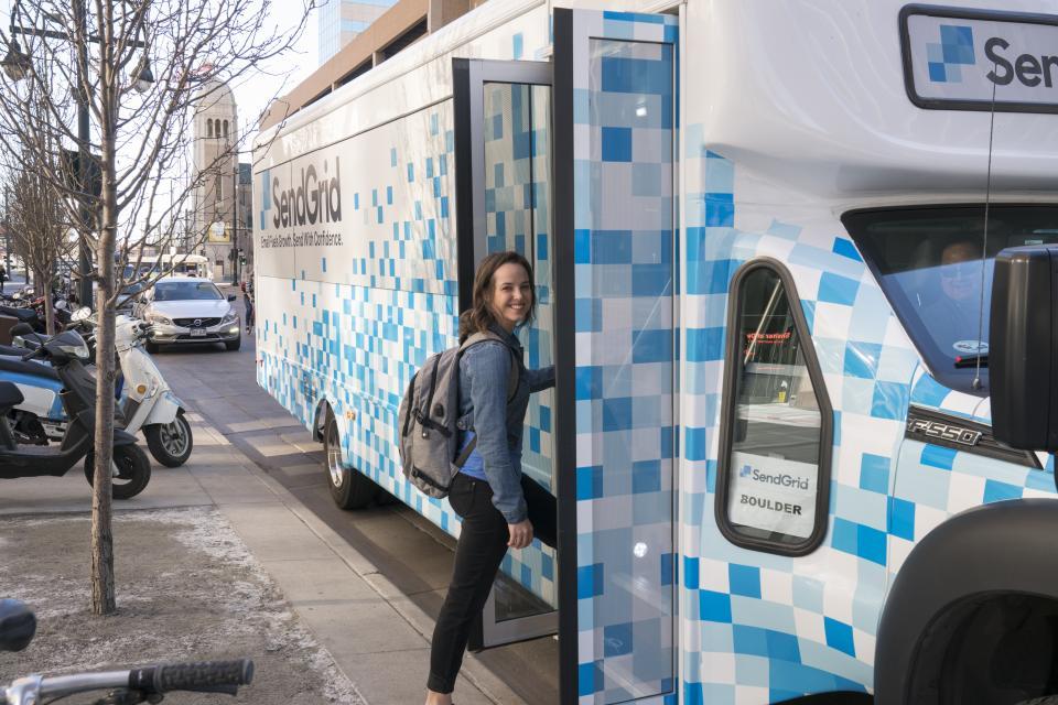 SendGrid's Wifi Shuttle Bus in Denver, CO