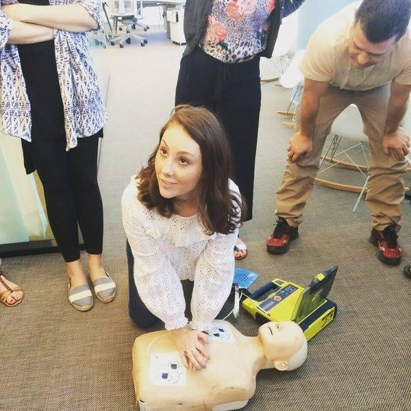 Cornerstars learning how to save a life during Development Day