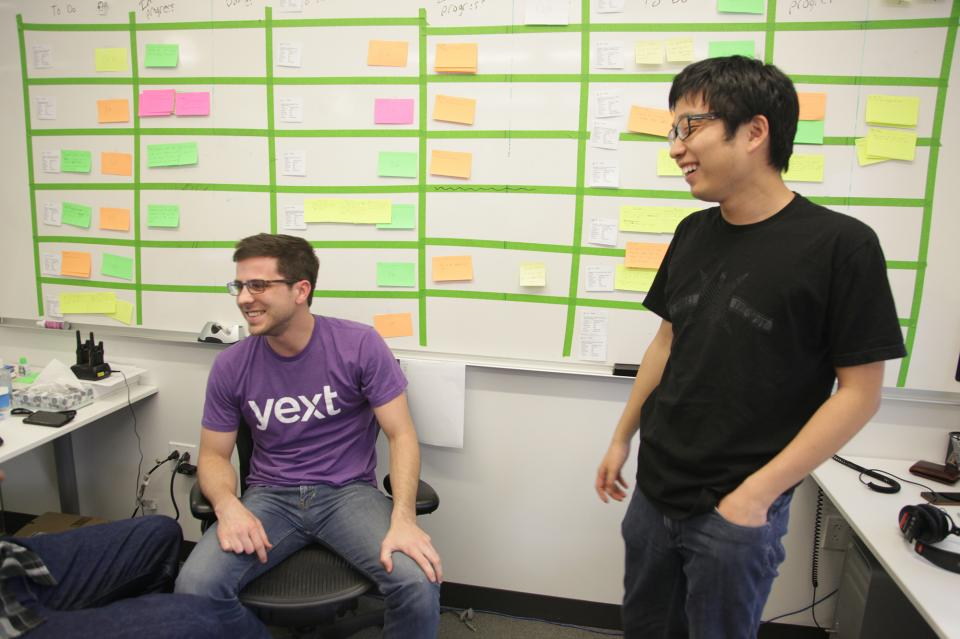 Yext Software Engineers using Scrum Methodology