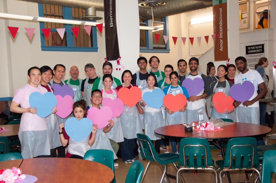 Dropboxers serve up a special Valentine's Day meal to those in need