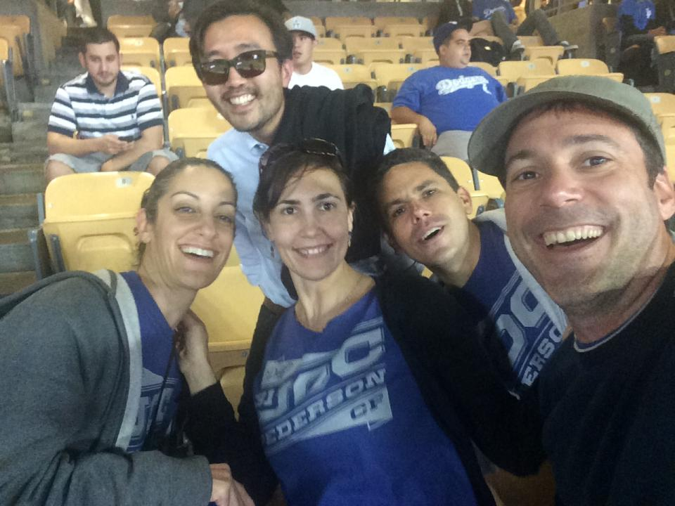 Employees enjoy a night at Dodger Stadium sponsored by Edmunds as part of our Summer 2015 All-Company Meeting Week. CEO Avi Steinlauf threw out the first pitch