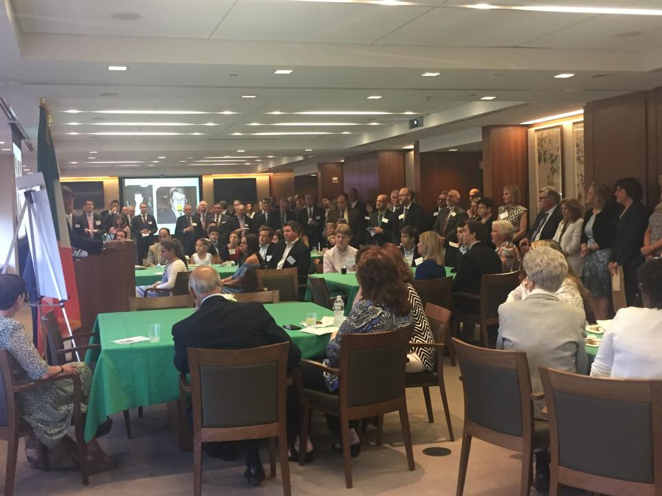 Employees at the firm gather to pay tribute to John T. Dolan who helped build the law firm into the prominent regional firm it is today. He was known as the heart and soul of the firm – so much so that the firm created the John T. Dolan St. Patrick's Day Award in 2013.