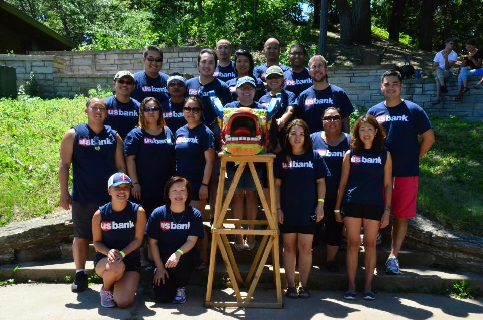 Members of our Asian Heritage Business Resource Group participated in a local dragon boat race