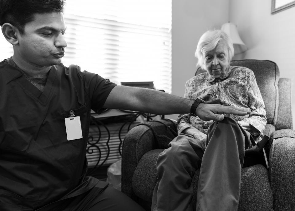 PT with Patient