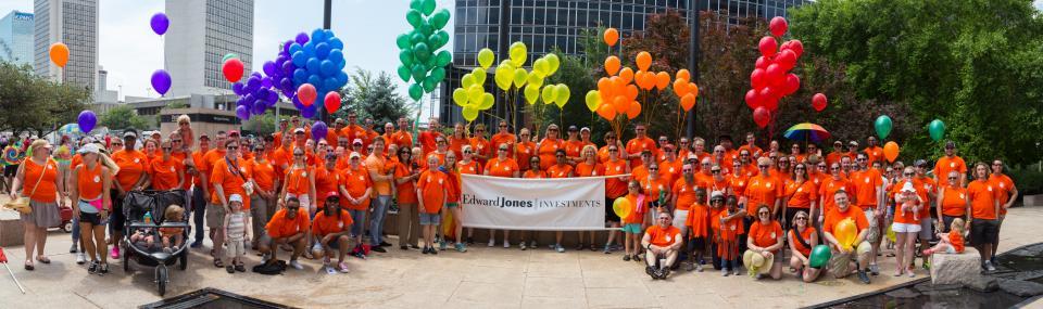 Edward Jones associates at the St. Louis Pride Parade