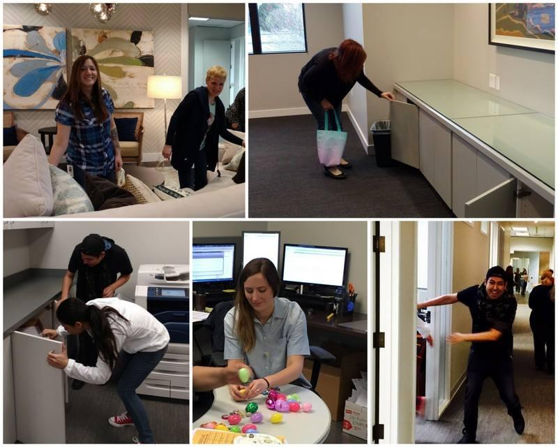 Home office staff had a blast hunting for eggs in every nook and cranny of the office.