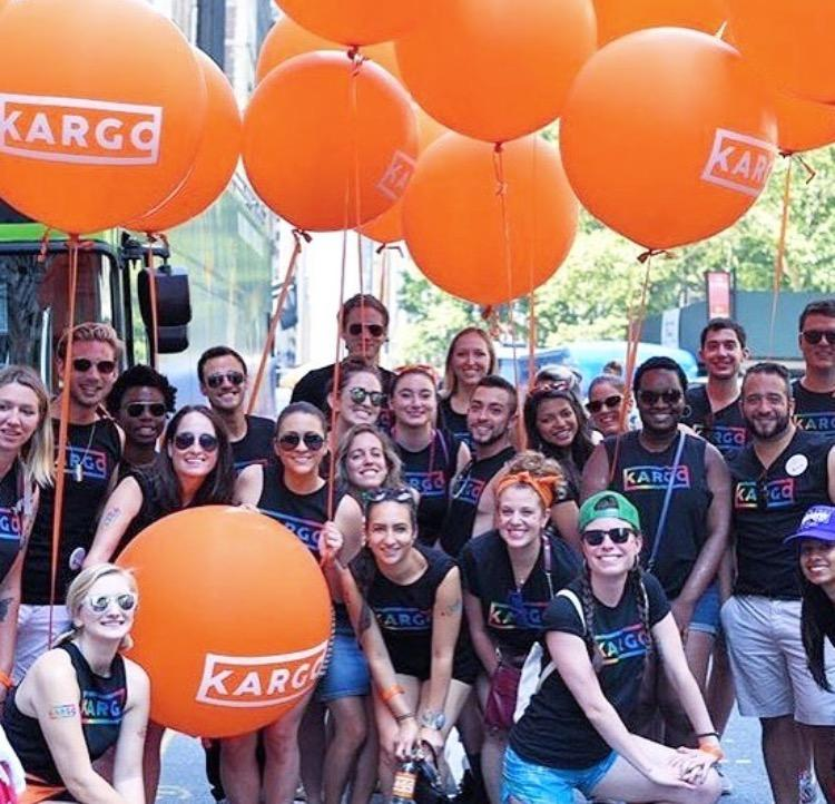 Employees at the Gay Pride Parade in NYC