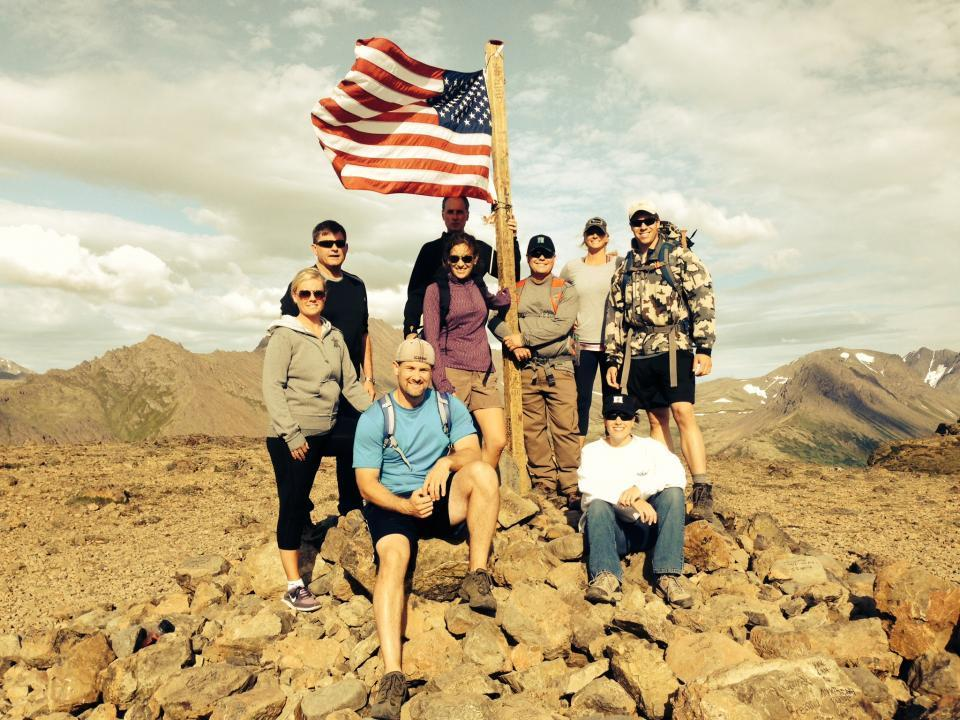 Employees Climb to the Top of Flattop in AK