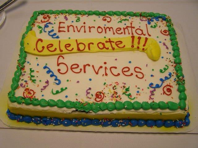 Cake Celebrating Environmental service employees