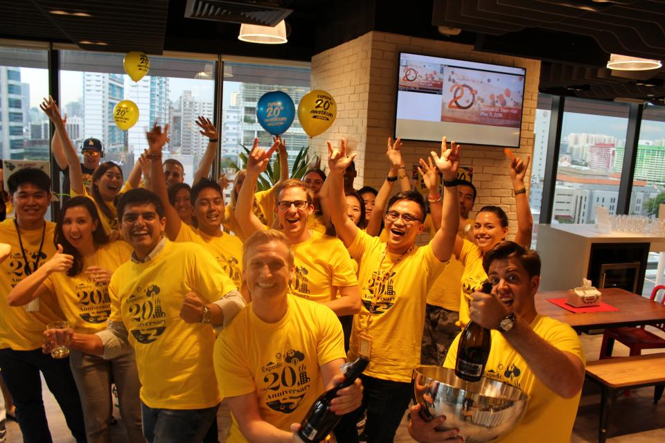 Happy Hour in Singapore to celebrate our 20th anniversary