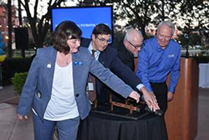 Realize the Full Potential of IEEE Campaign was formally launched in February 2018 with the flick of a symbolic wireless switch by the combined efforts of IEEE Foundation Executive Director Karen Galuchie, IEEE Foundation President John Treichler, IEEE Executive Directo