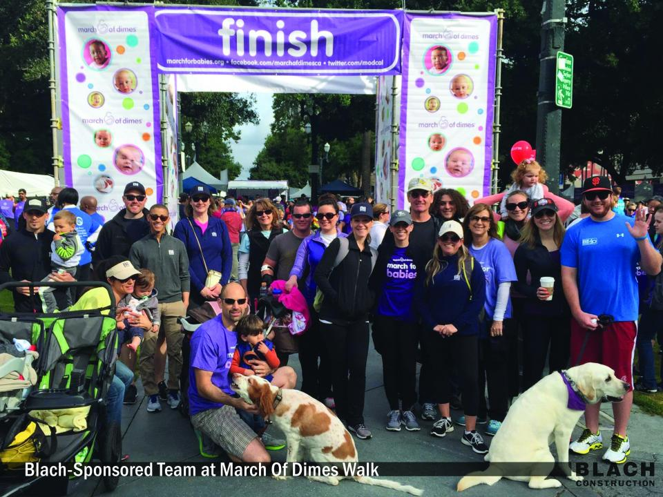 Blach-Sponsored Team at March of Dimes Walk
