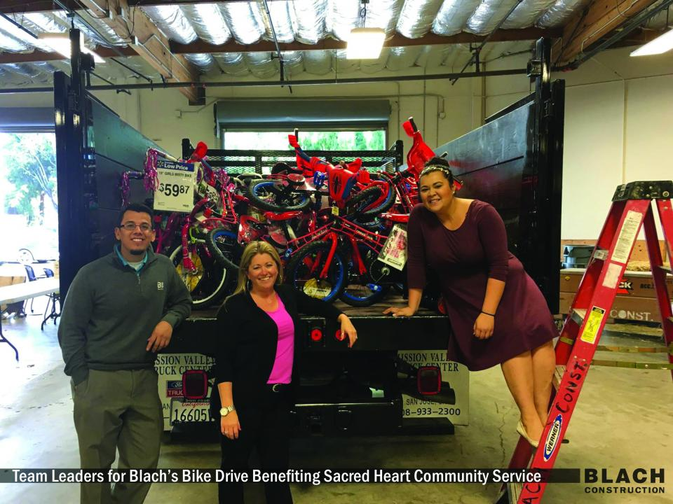Team Leaders for Blach's Bike Drive Benefiting Sacred Heart Community Service