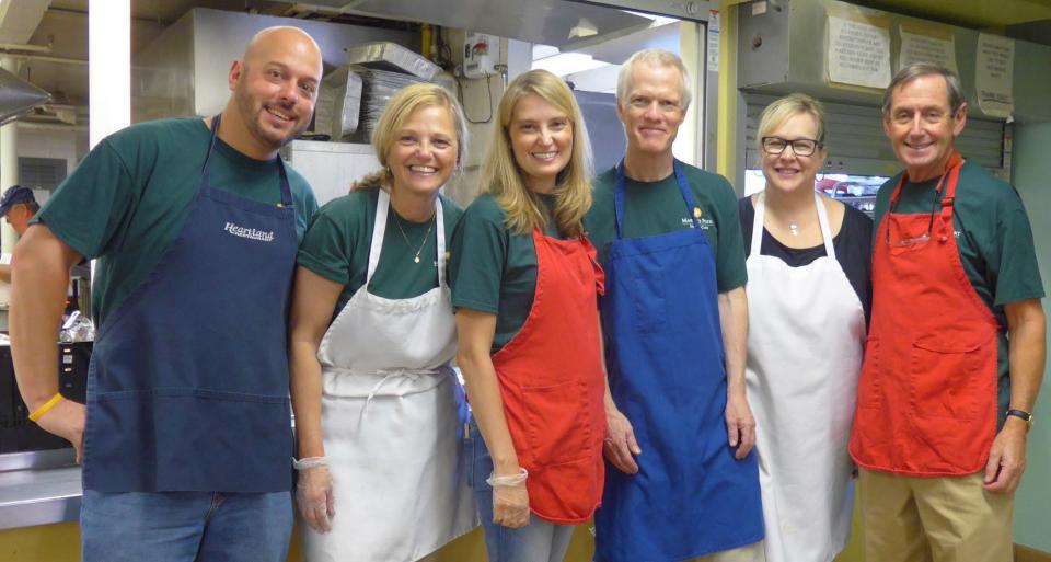 Senior Leaders Volunteering