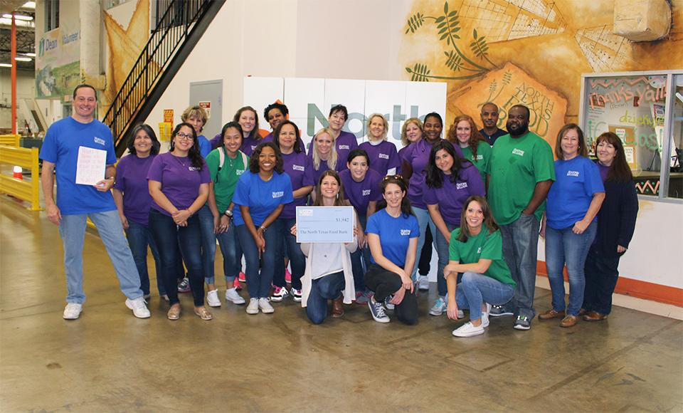 Thanks to generous donations of money and food and the hard work of these volunteers, Hunton & Williams' Dallas office provided 16,626 meals to needy families, children and elderly!