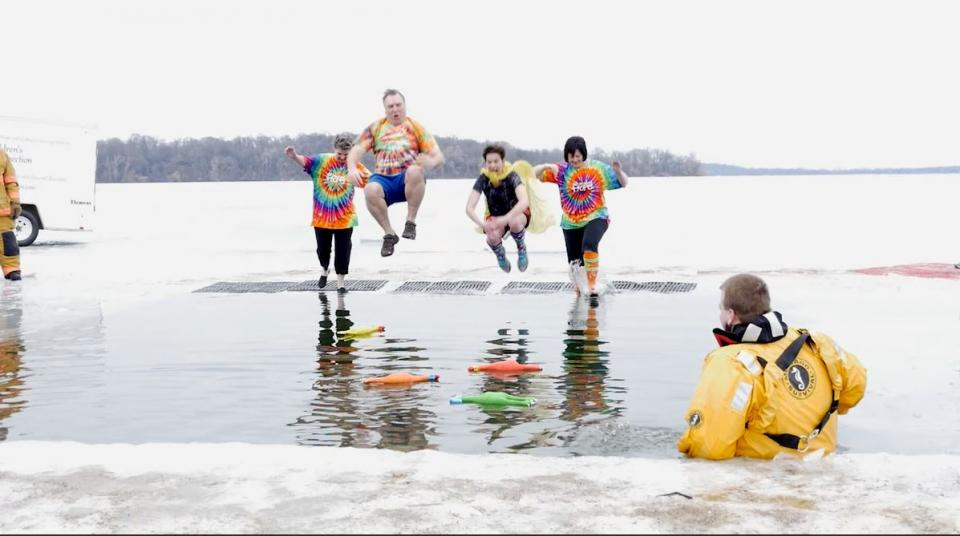 A few of us took on the challenge to jump into a freezing lake in Minnesota to raise funds for the Children's Grief Connection and Hearts of Home grief camps.