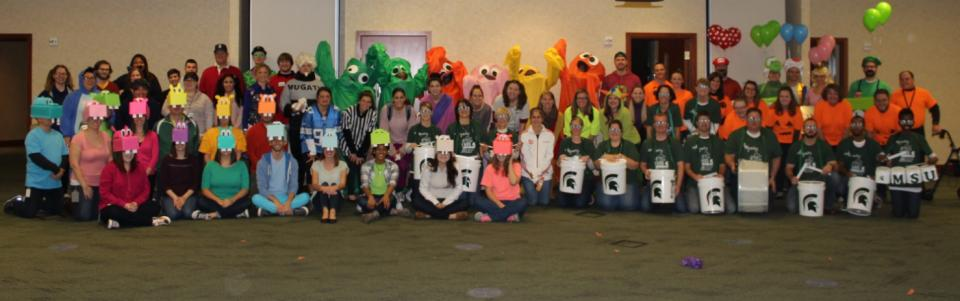 Employees from our Headquarters building celebrating Halloween