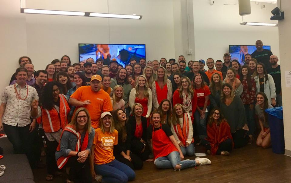 Nashville Britelings celebrate Orange Tuesday