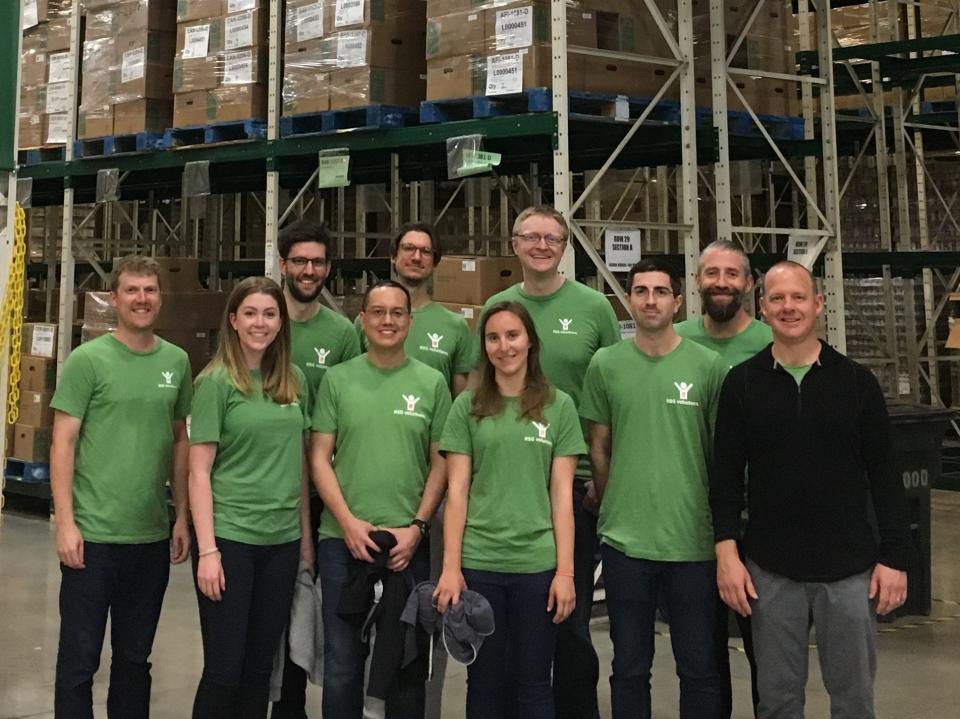 RSGers volunteering at a food bank