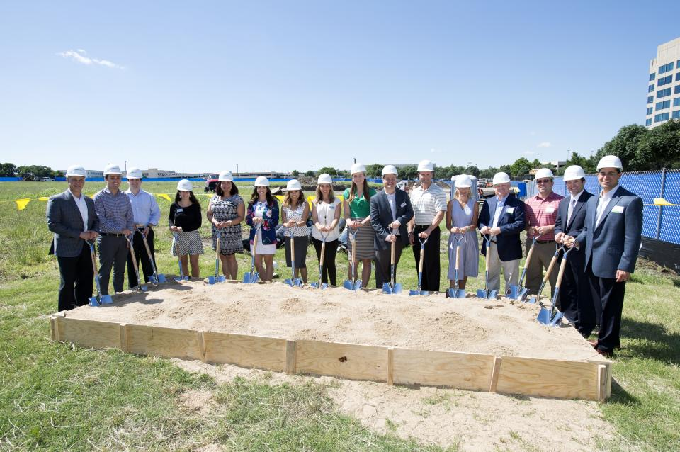Our Graniteers love to build things! When we broke ground on our newest building in Granite Park (Plano, TX), a group of employees came to help!