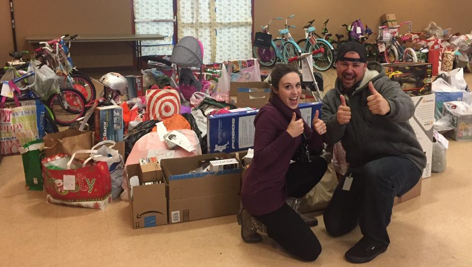 Employee Driven Fundraiser for Salvation Army Angel Tree, Providing Christmas Presents for Local San Diego Families.