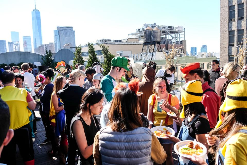 Halloween is a big - and we mean big - deal at Medidata! Each year, we throw an in-office party at our locations around the globe, with food, drinks, costume contests and more. This year, the weather was warm enough to host the NYC party outside on our terrace.