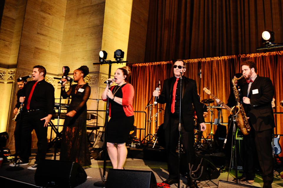 Medidata's incredibly talented in-house band, MDSOUL, rocks a performance at the 2015 Medidata East Coast holiday party, hosted at Cipriani.