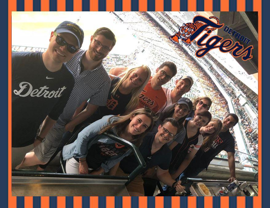 Summer Associates at Tiger's Baseball Game