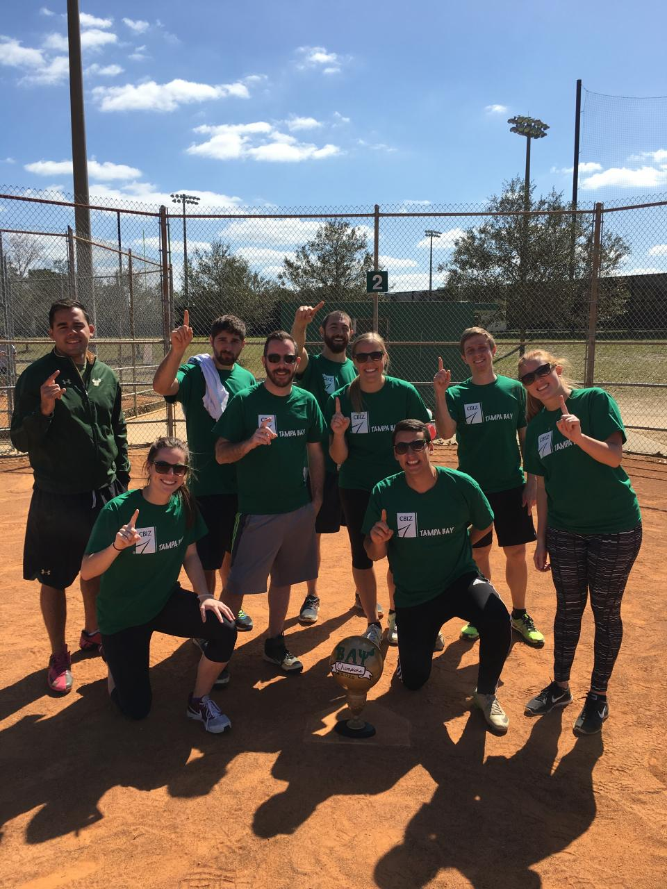 "Promoting our ""One CBIZ"" value, this kickball team has great camaraderie on and off the field…or should we say ""office""?"