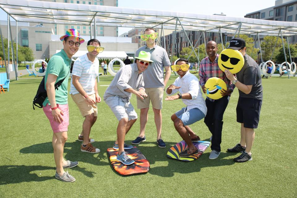 Employees from Liberty Investments department enjoy their department's annual summer outing