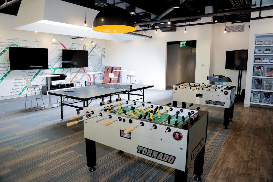 Wayfair's game room is a great place for employees to relax and unwind.