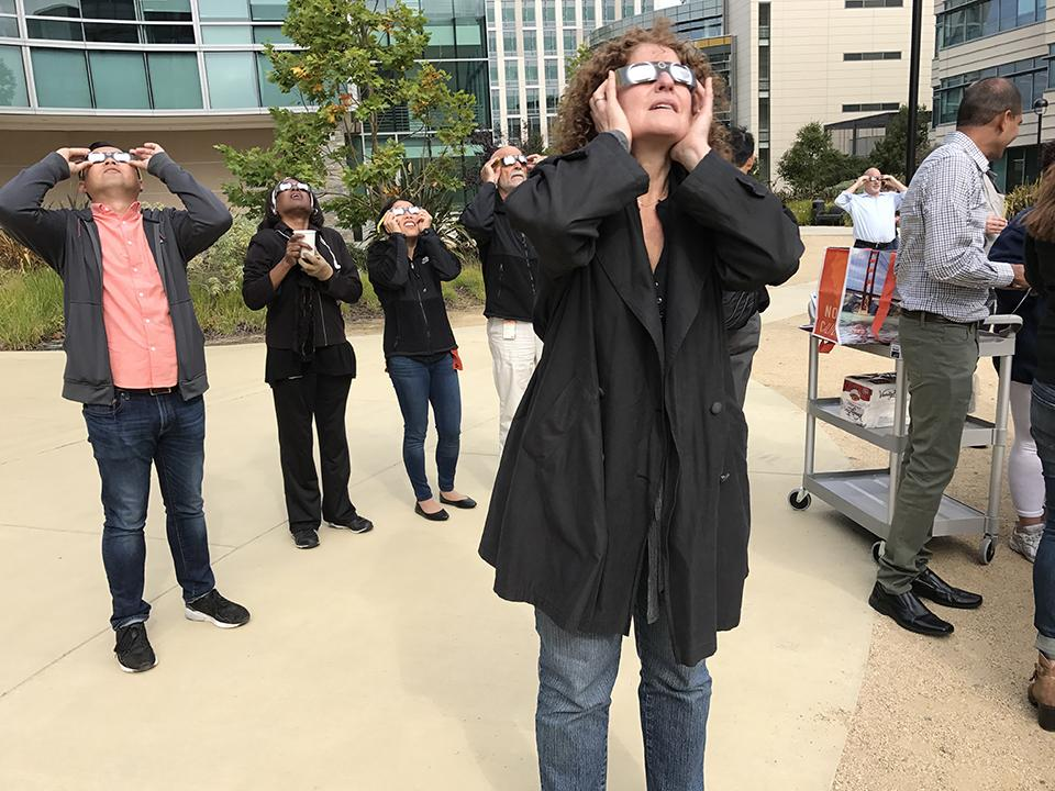 True to our science nerd reputation, Genentech employees couldn't help but get excited about this summer's solar eclipse. Various teams made it easy and safe to look at this natural phenomenon by hosting viewing parties on campus.