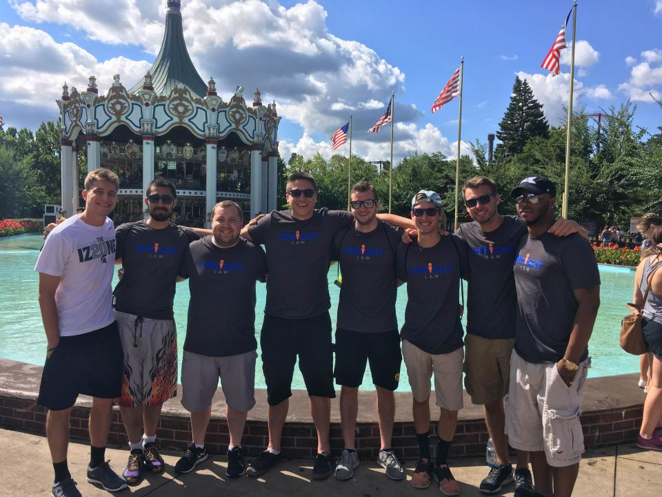 Employees enjoy a day off the job at Great America.