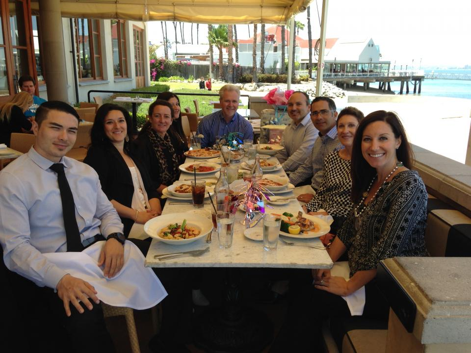 Ryan's San Diego Employees enjoy a team lunch by the bay!