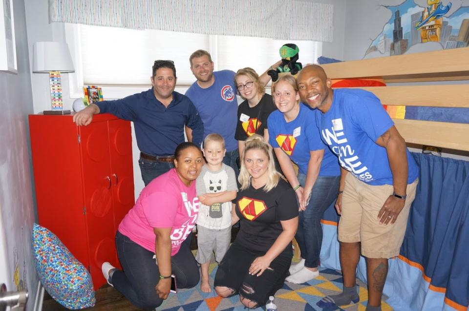 A group of Assurance employees used their paid day off to volunteer to help Special Spaces Chicago build a dream bedroom for an ill child.