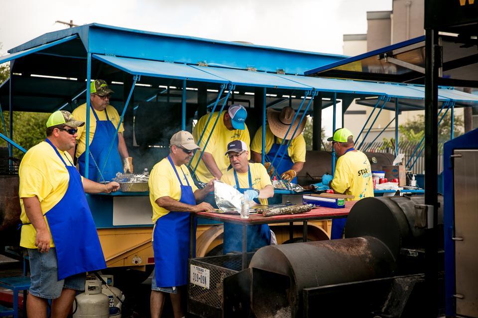 The NuStar BBQ Team, which is composed of employees from all over Texas and Oklahoma, gather in San Antonio every year for the Haven for Hope BBQ Bash. This year, they cooked 3,600 lbs. of barbecue for those individuals living on this homeless transformation campus.